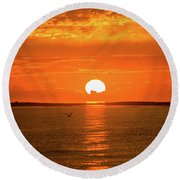 Island Of The Sun Round Beach Towel