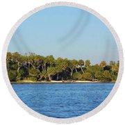 Island Off Of Cedar Key Round Beach Towel