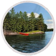 Island Retreat Round Beach Towel