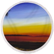 Island River Palmetto Round Beach Towel