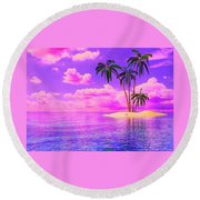 Island Sunrise Round Beach Towel
