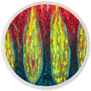 Island Three Trees Round Beach Towel