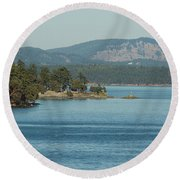 Islands And Mainland Round Beach Towel