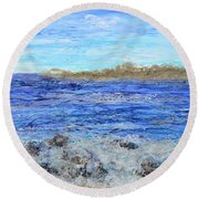 Islands And Surf Round Beach Towel