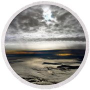 Islands In The Clouds Round Beach Towel