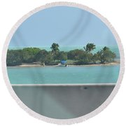 Islands Islands Islands  Round Beach Towel