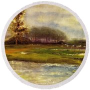 Islands On The River Round Beach Towel