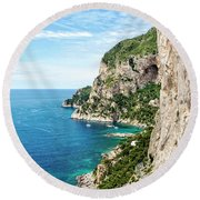 Isle Of Capri Round Beach Towel