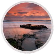Isle Of The Setting Sun Round Beach Towel