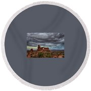 Isolated Arch Round Beach Towel