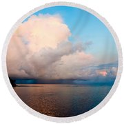 Isolated Isolated Shower Round Beach Towel