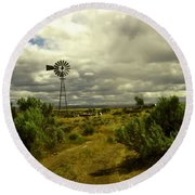 Isolated Windmill Round Beach Towel