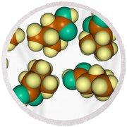 Isovaleric Acid Molecular Models Round Beach Towel