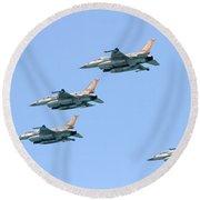 Israeli Air Force F-16  Round Beach Towel