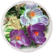 Ist Flowers In The Garden 2010 Round Beach Towel