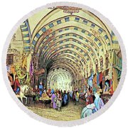 Istanbul Old Market Round Beach Towel