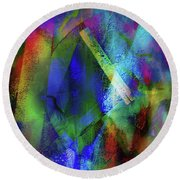 It Is About Time Intersecting Wondrous Cross Round Beach Towel