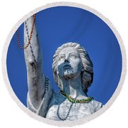 It Is All About The Beads-nola Round Beach Towel