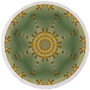 It Is Christmas Again - 3 Round Beach Towel
