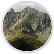 Italian Alps Round Beach Towel