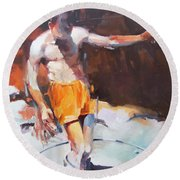 Italian Bathers 1 Round Beach Towel