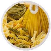 Italian Pasta Round Beach Towel