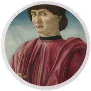 Italian Renaissance Portrait Painter Round Beach Towel