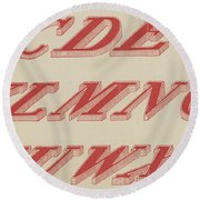 Italic Shaded  Round Beach Towel