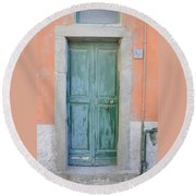 Italy - Door Five Round Beach Towel