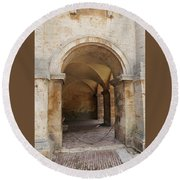 Italy - Door Sixteen Round Beach Towel