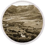 Italy From Above Round Beach Towel