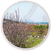 Italy In Spring Round Beach Towel