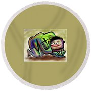 iThingy Round Beach Towel