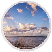It's A Beautiful Day Round Beach Towel