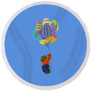 It's A Bird, It's A Plane, It's Easter Round Beach Towel
