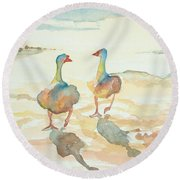 It's A Ducky Day Round Beach Towel