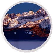 Its A New Day First Light Sawtooth Range Round Beach Towel