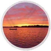 It's A New Day Round Beach Towel