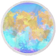 It's A Sunny Day  Round Beach Towel