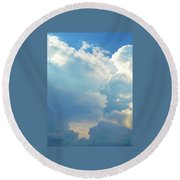 It's Clouds Illusions I Recall 1 Round Beach Towel