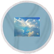 It's Clouds Illusions I Recall 2 Round Beach Towel