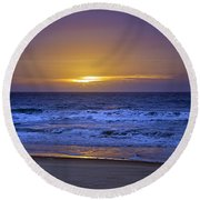 It's Going To Be A Lovely Day Round Beach Towel