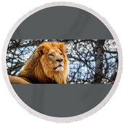 It's Good To Be King Round Beach Towel