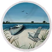 Its Summertime Round Beach Towel