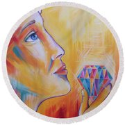 It's Time To Shine Round Beach Towel