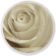 Ivory Rose Round Beach Towel