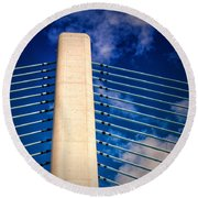 Ivory Tower At Indian River Inlet Round Beach Towel