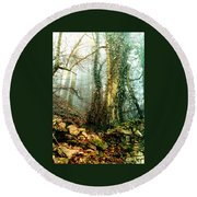 Ivy In The Woods Round Beach Towel