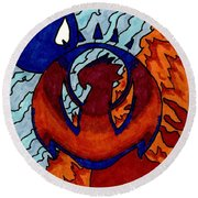 Izzet Experience Or Mana Counter Round Beach Towel