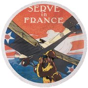 Join The Air Service Round Beach Towel